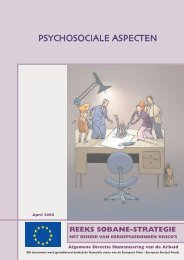 psychosociale aspecten - Unité Hygiène et Physiologie du Travail