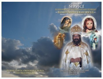 The Funeral Service Book - Saint Mary Orthodox Church