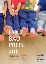 Broschüre Holzbaupreis Tirol 2011 (pdf, 14MB)