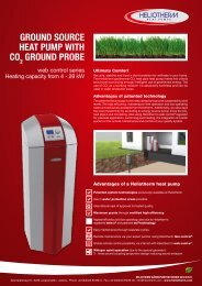 Leaflet ground source heat pump with CO2 probe - Heliotherm ...