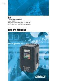 RX USER'S MANUAL