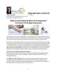 Sleep Well News Article vol 1, No. 5 - Greens First