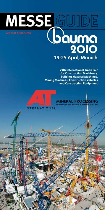MESSE 9-25 April, Munich - Mineral Processing