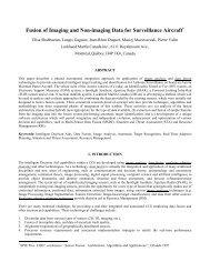 Fusion of Imaging and Non-imaging Data for Surveillance ... - CRIM