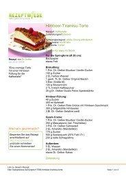 Himbeer-Tiramisu-Torte - Rezeptwiese
