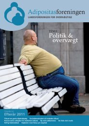 Nr. 2 - Tema Politik & overvægt - Adipositasforeningen