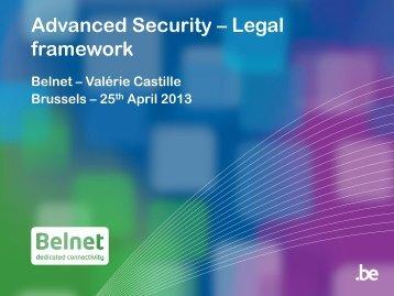 2. Le cadre contractuel applicable - Belnet - Events