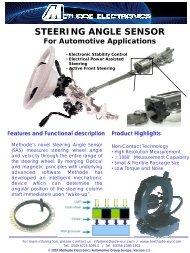 Steering Angle Sensor Data Sheet - Methode Electronics, Inc.