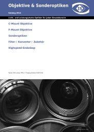 Objektive & Sonderoptiken - Imaging Solutions GmbH