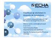 Clasificare şi etichetare în dosarele de înregistrare Cum ... - Europa