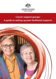 Cancer support groups: A guide to setting up peer ... - Cancer Australia