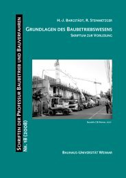 Grundlagen des Baubetriebswesen - Bauhaus-Universität Weimar