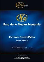 Don César Antonio Molina Ministro de Cultura - Nueva Economía Fórum