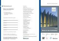Rückantwort Beton in der Architektur - Baulinks