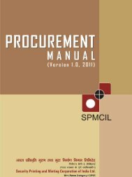 Procurement Manual - The India Government Mint , Kolkata