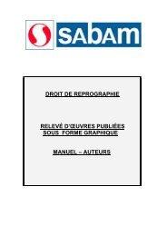 Manuel Reprographie auteurs - Sabam