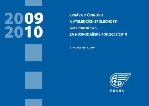 Výsledky hospodaření - AŽD Praha, sro