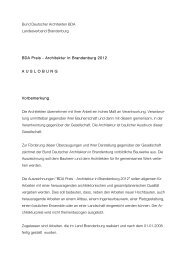 Bund Deutscher Architekten BDA Landesverband ... - BDA Berlin