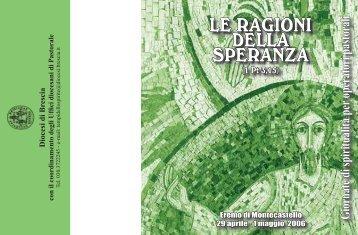 LE RAGIONI DELLA SPERANZA - Diocesi di Brescia