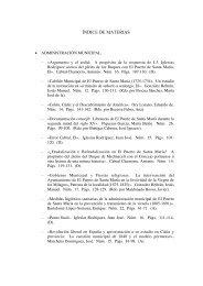 ÍNDICE DE MATERIAS - Revista de Historia de El Puerto