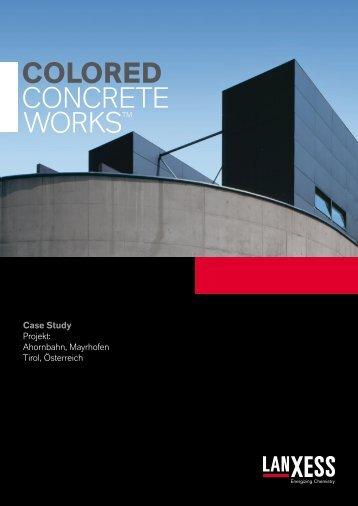 Case Study - LANXESS pigments for coloring architectural concrete