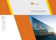 Optimierte Lösungen für modernes Bauen - DW Systembau GmbH