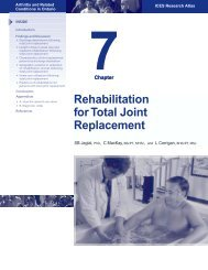 Chapter 7: Rehabilitation for Total Joint Replacement - Arthritis ...