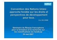 Convention des Nations Unies: approche fondée sur les ... - ctnerhi