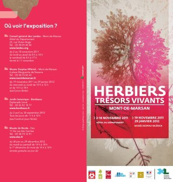 Herbiers : trésors vivants - Conseil général des Landes