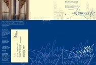 Jahresprogramm 2006 - Kirchenmusik an der Dreifaltigkeitskirche ...