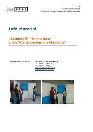 Links und Adressen zum Anfordern von Info – Material - pratter.info