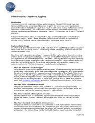 GTIN Implementation Checklist – Suppliers - GS1 Canada