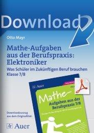 Mathe-Aufgaben aus der Berufspraxis: Elektroniker