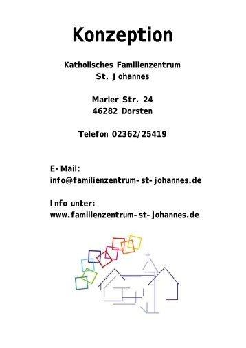 Pädagogische Konzeption - Familienzentrum  St. Johannes Dorsten