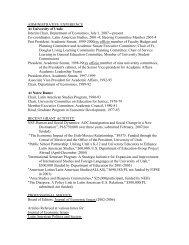ADMINISTRATIVE EXPERIENCE - Department of Economics ...