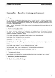 Green coffee — Guidelines for storage and transport
