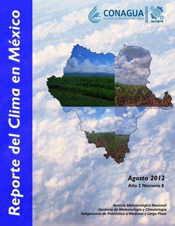 Agosto - Servicio Meteorológico Nacional. México.