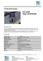 Car-LISN Type LN-KFZ/200