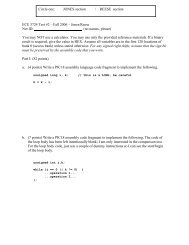 ECE 3724 Test #2 – Fall 2006 – Jones/Reese Net ID: (no names ...
