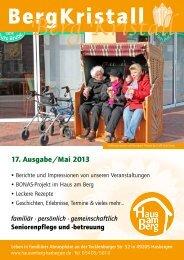 17. Ausgabe /Mai 2013 - Haus am Berg