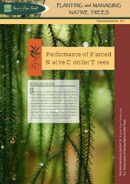 Performance of Planted Native Conifer Trees