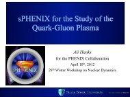 sPHENIX for the Study of the Quark-Gluon Plasma