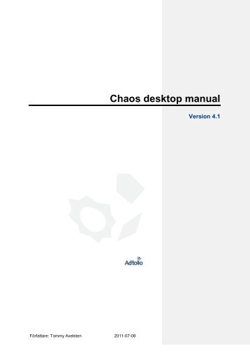Chaos desktop manual - Adtollo