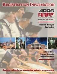 the annual meeting registration brochure. - American Roentgen Ray ...