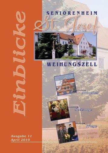 Einblicke Ausgabe 11 April 2010 - Seniorenheim St.Josef ...