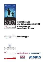 Internationales Jahr der Astronomie 2009 Pressemappe - IYA 2009
