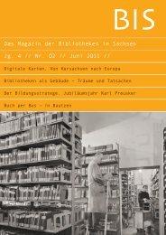 y - Das Magazin der Bibliotheken in Sachsen