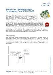 BIA- Betriebs und Installationsanleitung Vorheizregister ... - Pluggit