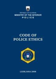 Code of Police Ethics - Policija
