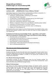 Bürgerstiftung Ostfildern: Erläuterungen zur Ausschreibung 2009